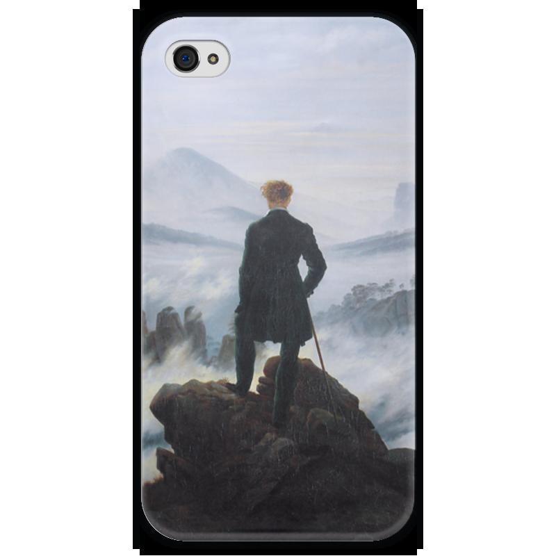 Чехол для iPhone 4 глянцевый, с полной запечаткой Printio Странник над морем тумана (каспар фридрих) free shipping 10 had 4