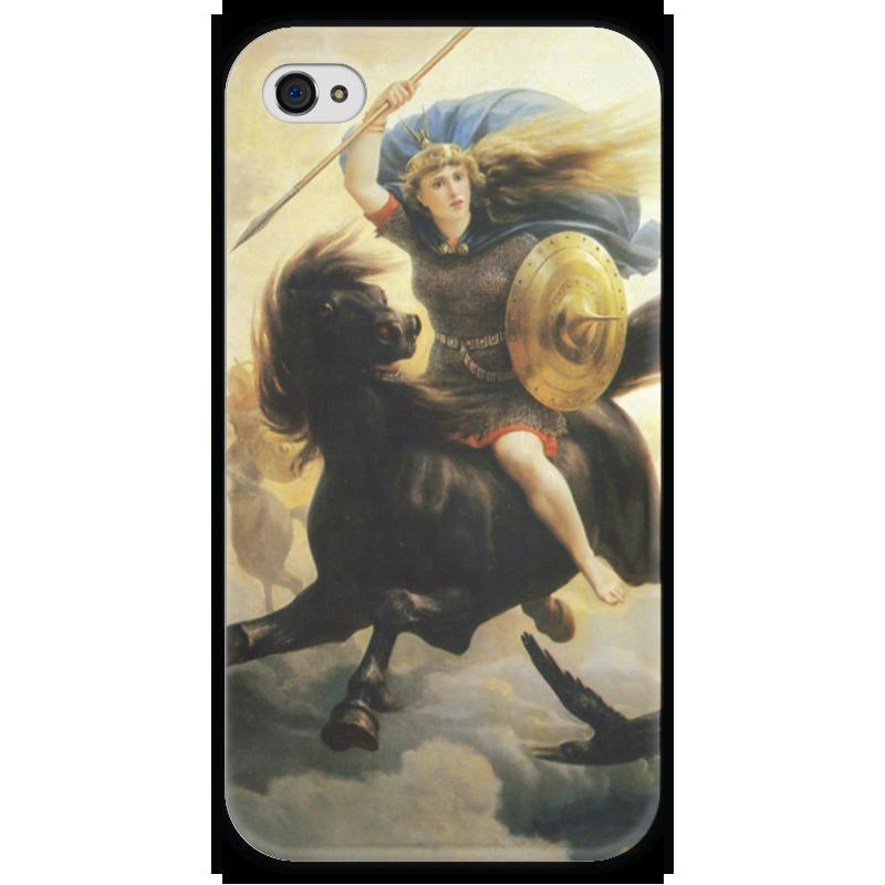 Чехол для iPhone 4 глянцевый, с полной запечаткой Printio Валькирия (петер николай арбо) николай рашеев