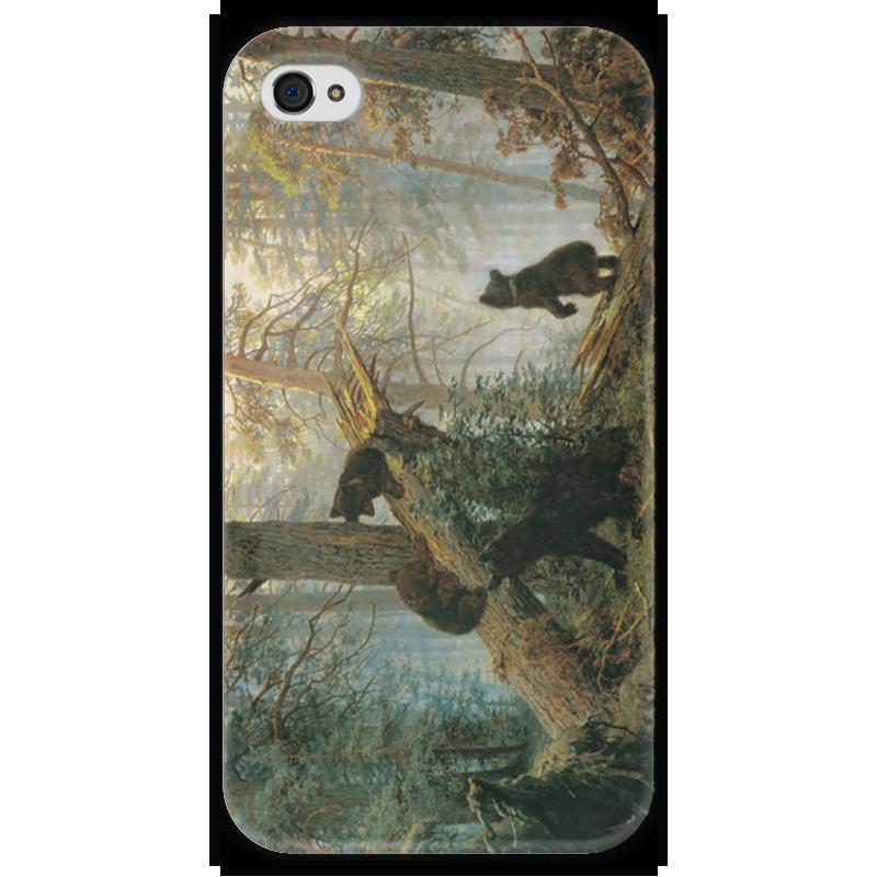 Чехол для iPhone 4 глянцевый, с полной запечаткой Printio Утро в сосновом лесу (иван шишкин) иван комлев ковыль