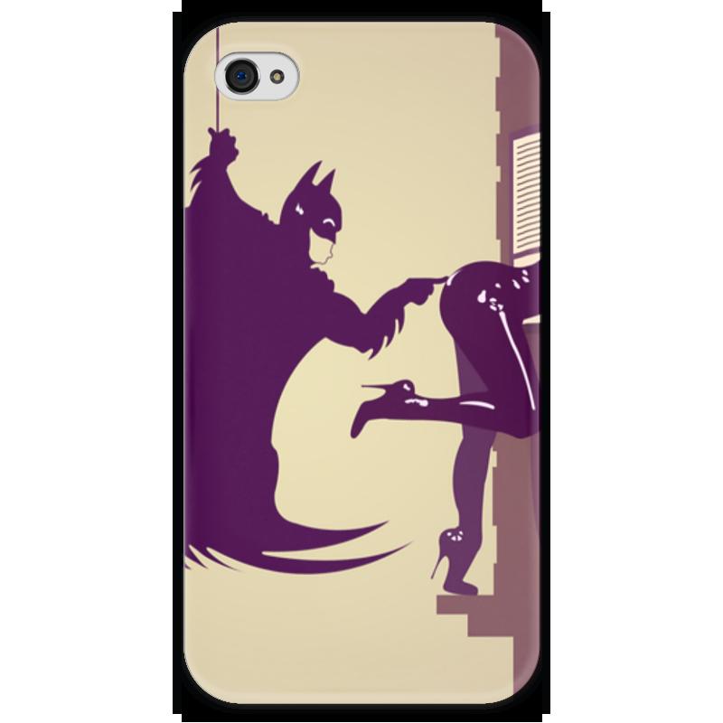 Чехол для iPhone 4 глянцевый, с полной запечаткой Printio Batman x catwoman чехол для iphone 4 глянцевый с полной запечаткой printio эфиопка