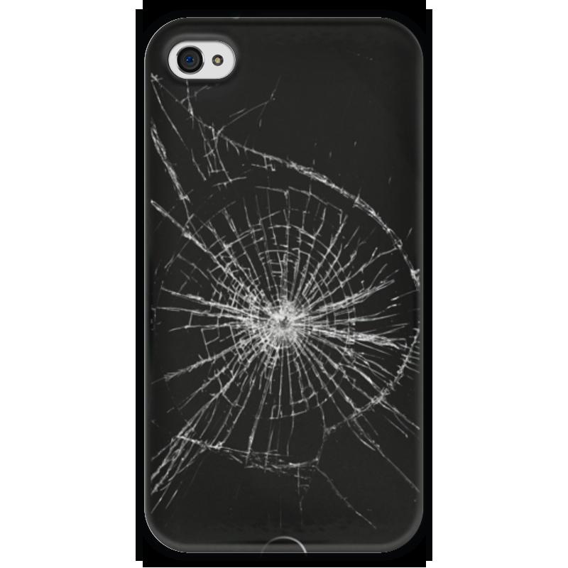 Чехол для iPhone 4 глянцевый, с полной запечаткой Printio Разбитый экран чехол для iphone 4 глянцевый с полной запечаткой printio эфиопка