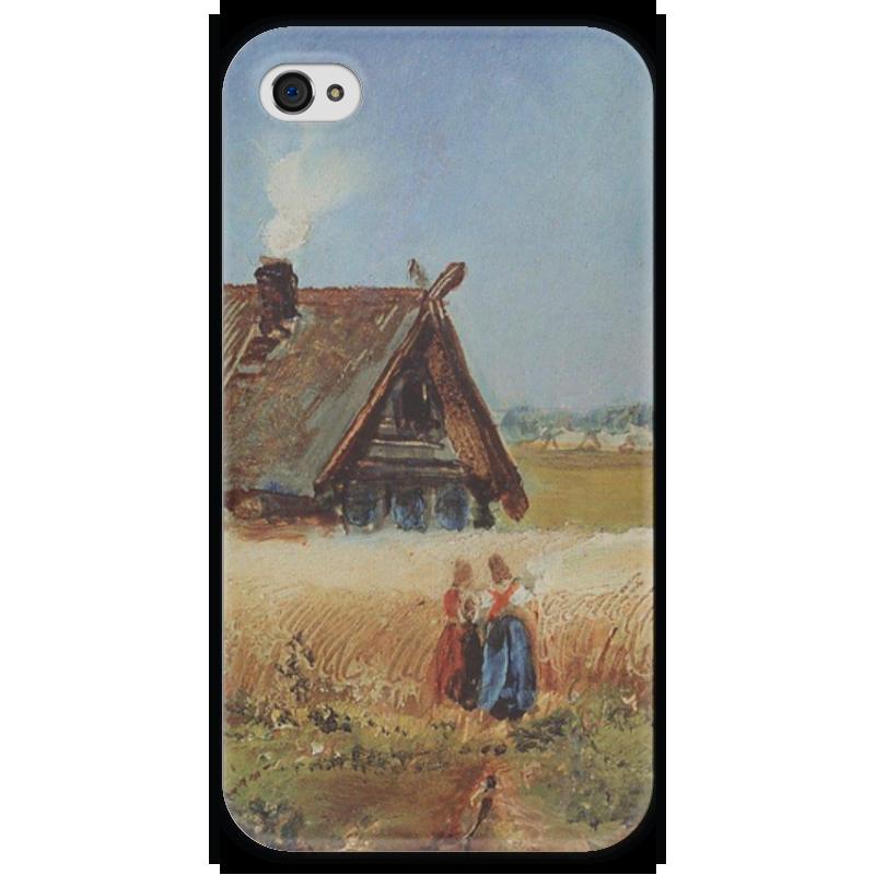 Чехол для iPhone 4 глянцевый, с полной запечаткой Printio Кутузовская изба