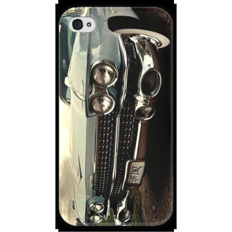 Чехол для iPhone 4 глянцевый, с полной запечаткой Printio Cadilac eldorado цена и фото