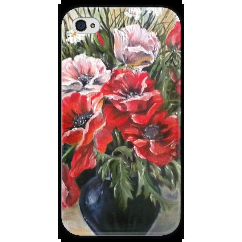 Чехол для iPhone 4 глянцевый, с полной запечаткой Printio Цветы чехол для iphone 4 глянцевый с полной запечаткой printio челси