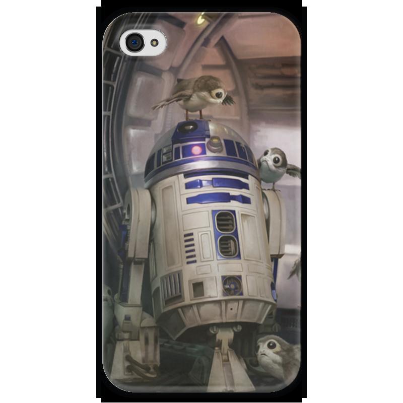Чехол для iPhone 4 глянцевый, с полной запечаткой Printio Звездные войны - r2-d2 ivue d5004 ahc d2 для дома и офиса 4 2 комплект видеонаблюдения