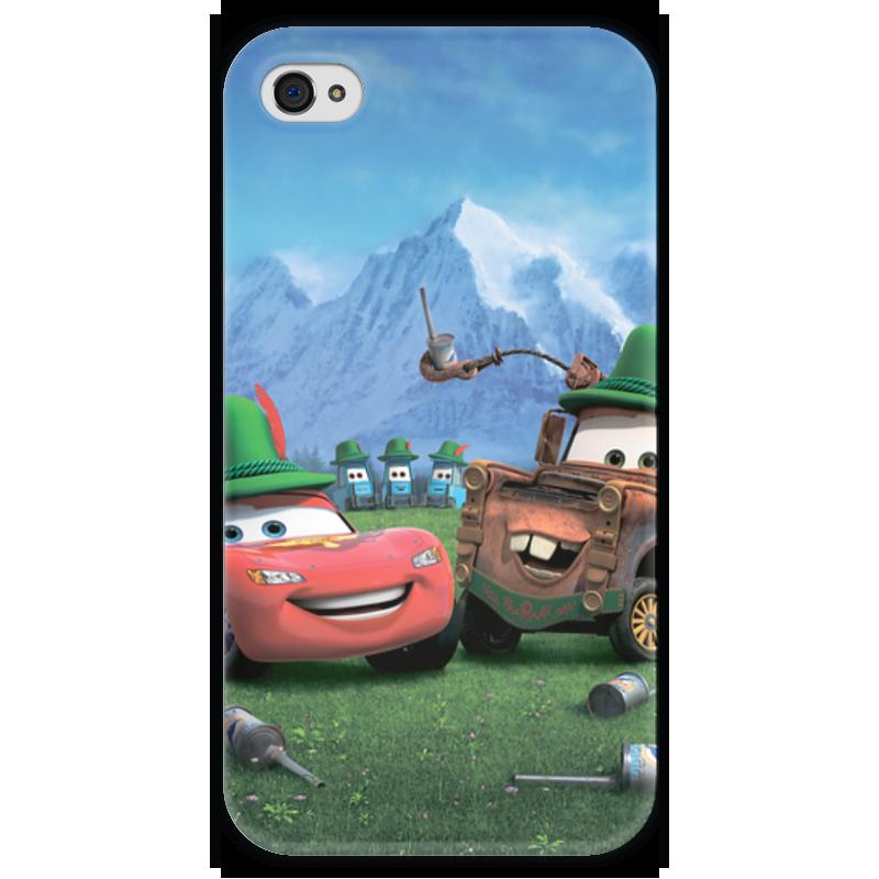 Чехол для iPhone 4 глянцевый, с полной запечаткой Printio Тачки чехол для iphone 4 глянцевый с полной запечаткой printio челси