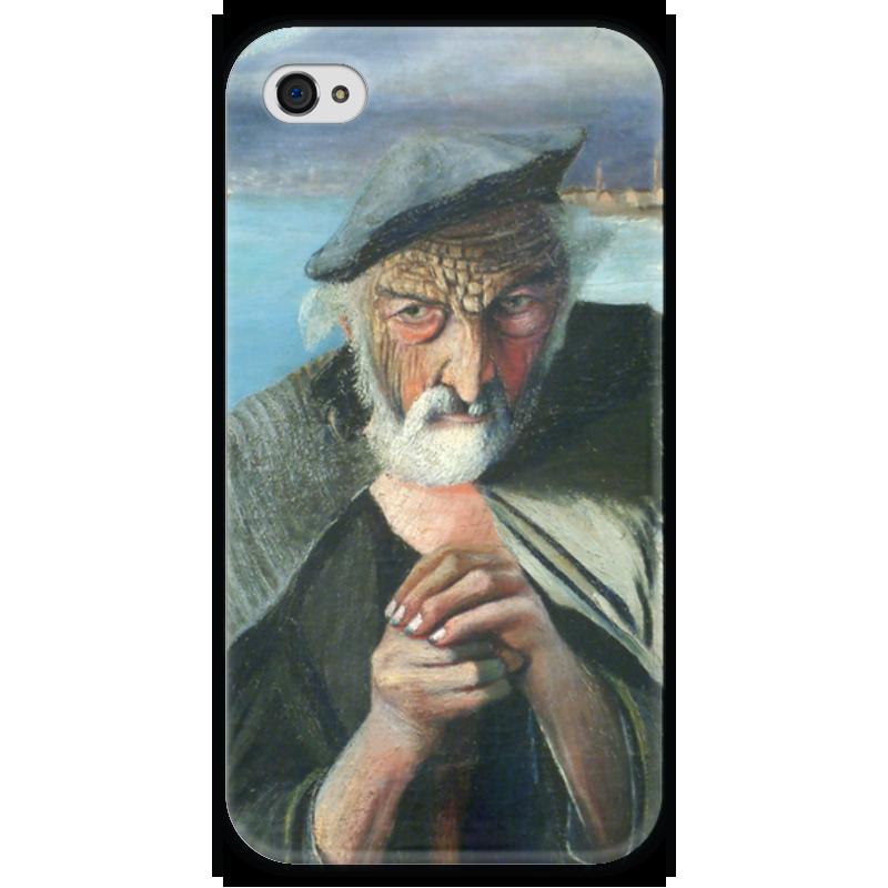 Чехол для iPhone 4 глянцевый, с полной запечаткой Printio Старый рыбак (тивадар чонтварив) антипирен старый вяз в москве