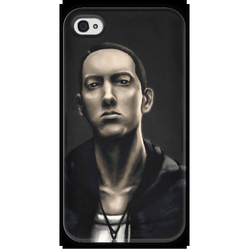 Чехол для iPhone 4 глянцевый, с полной запечаткой Printio Eminem art iphone 5 ростест с гарантией купить