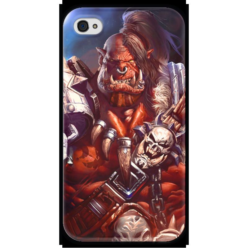Чехол для iPhone 4 глянцевый, с полной запечаткой Printio Warcraft: орк чехол для iphone 4 глянцевый с полной запечаткой printio эфиопка