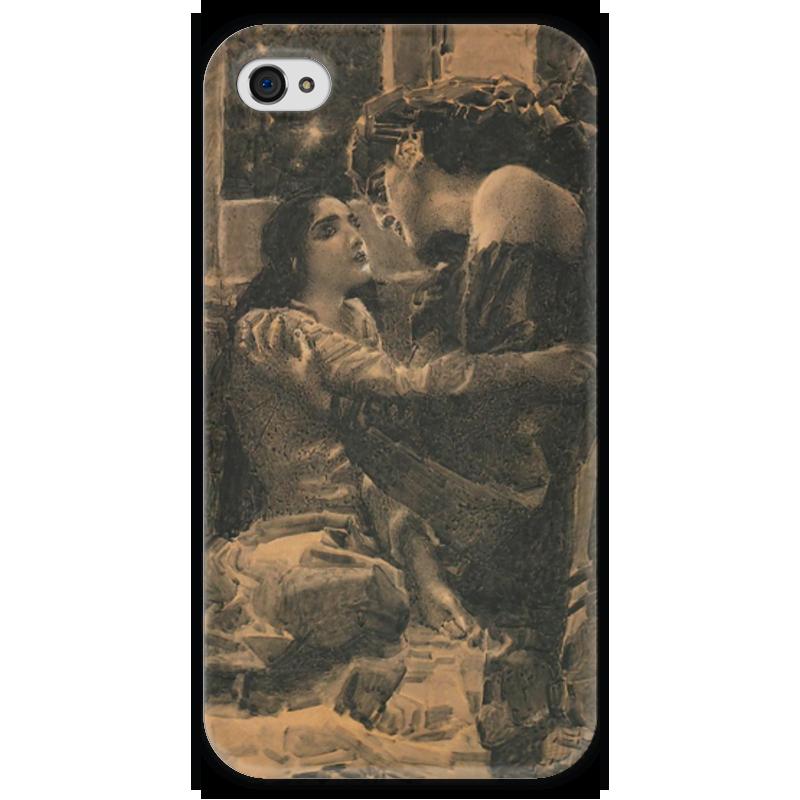 Чехол для iPhone 4 глянцевый, с полной запечаткой Printio Демон и тамара подобен богу ретроспектива жизни м ю лермонтова