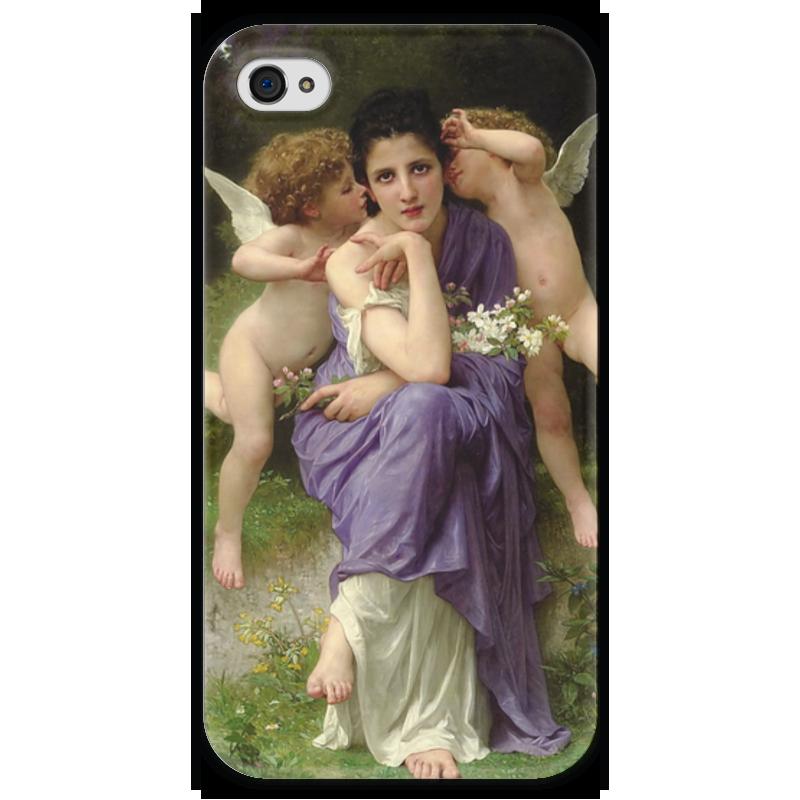 Чехол для iPhone 4 глянцевый, с полной запечаткой Printio Песни весны (chansons de printemps)