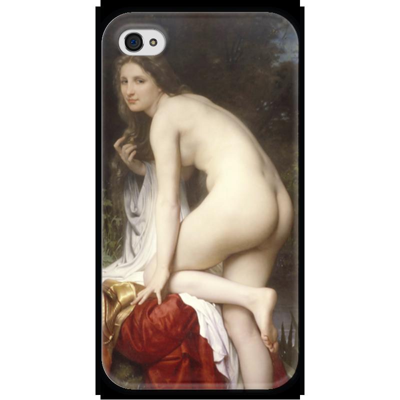 Чехол для iPhone 4 глянцевый, с полной запечаткой Printio Купальщица (вильям бугро) чехол для iphone 6 глянцевый printio купальщица вильям бугро
