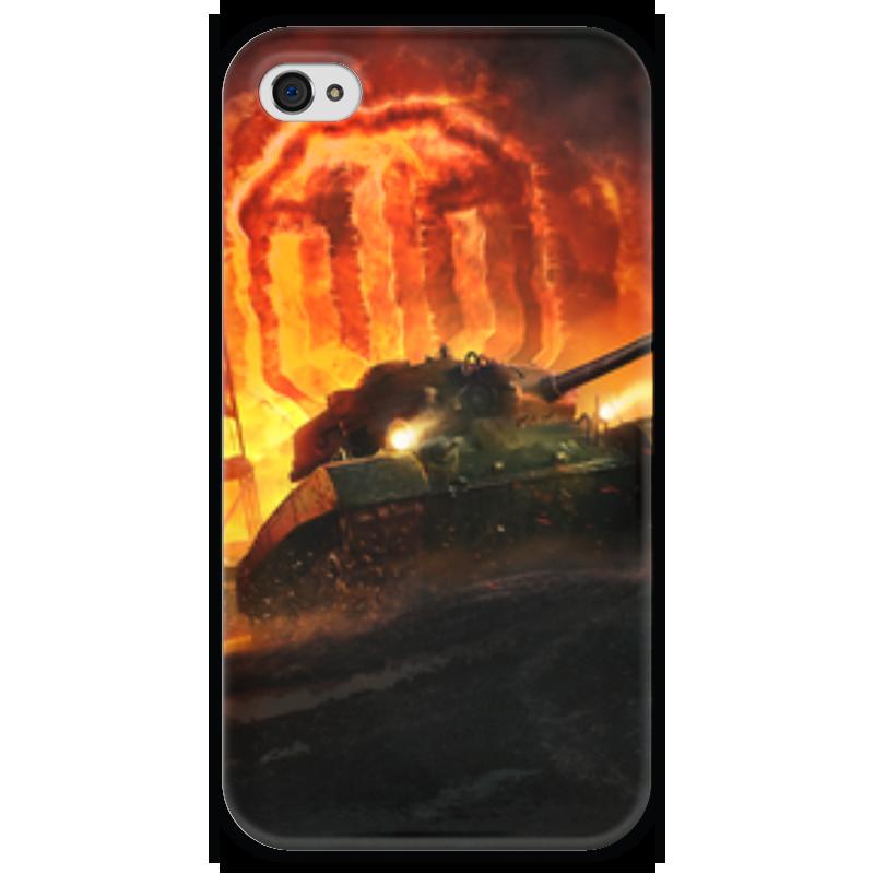 Чехол для iPhone 4 глянцевый, с полной запечаткой Printio Worlds of tanks чехол