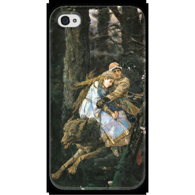 Чехол для iPhone 4 глянцевый, с полной запечаткой Printio Иван-царевич на сером волке (виктор васнецов) скульптура иван царевич