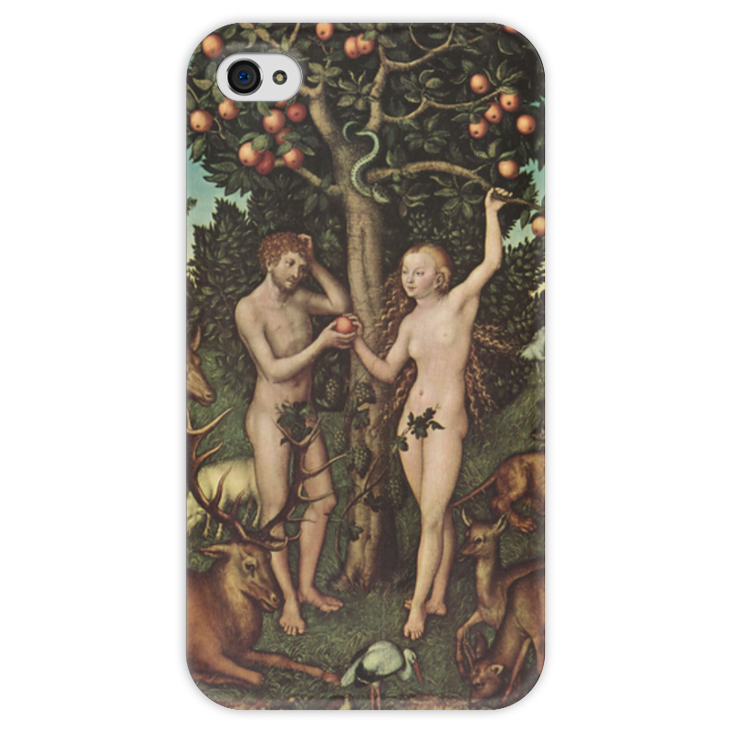 Чехол для iPhone 4 глянцевый, с полной запечаткой Printio Адам и ева (лукас кранах старший) здт лукас на волгу