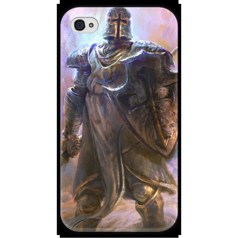 Чехол для iPhone 4 глянцевый, с полной запечаткой Printio Крестоносец чехол для iphone 4 глянцевый с полной запечаткой printio иллидан