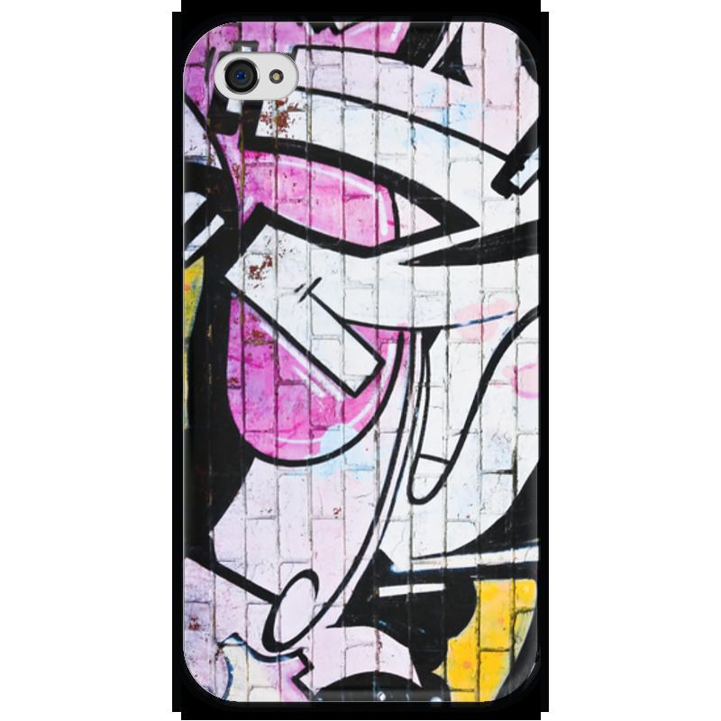 Чехол для iPhone 4 глянцевый, с полной запечаткой Printio Графити чехол для iphone 4 глянцевый с полной запечаткой printio челси