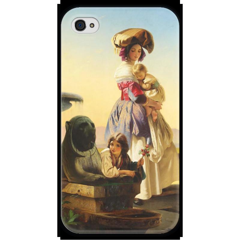 Чехол для iPhone 4 глянцевый, с полной запечаткой Printio Молодая мать чехол для iphone 6 глянцевый printio молодая женщина в соломенной шляпе