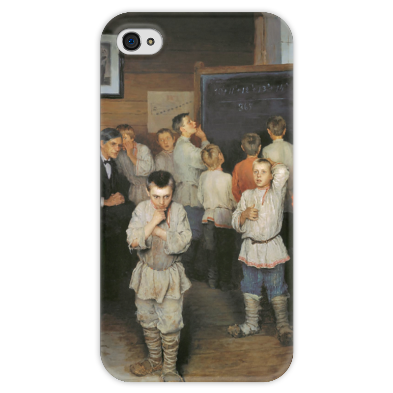 Чехол для iPhone 4 глянцевый, с полной запечаткой Printio Устный счёт. (богданов-бельский) семь смертных грехов 12 литографий н а богданова