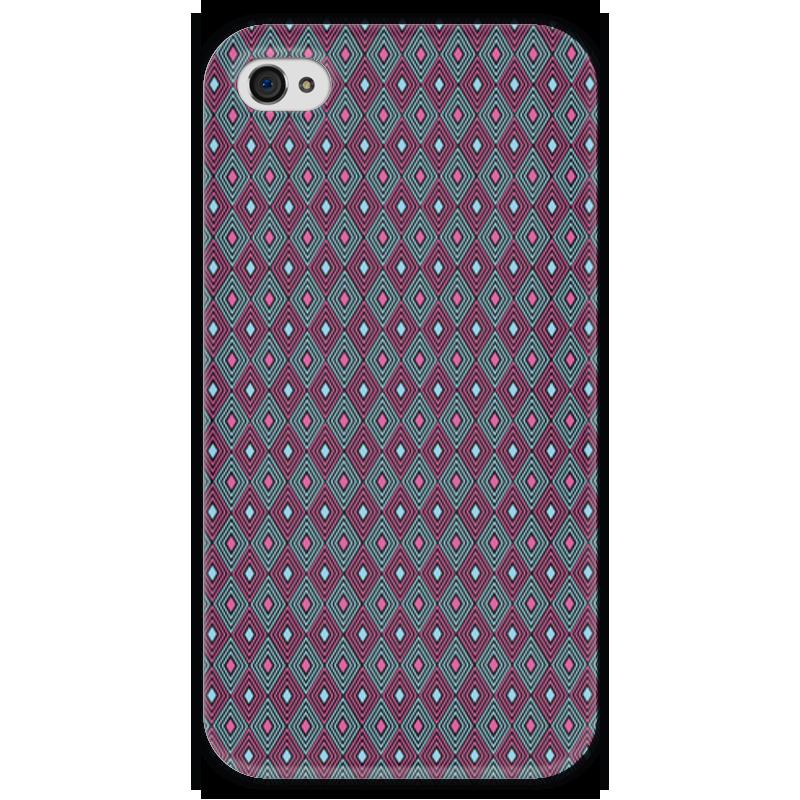 Чехол для iPhone 4 глянцевый, с полной запечаткой Printio Геометрический узор чехол для iphone 4 глянцевый с полной запечаткой printio эфиопка