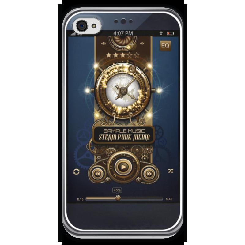 Чехол для iPhone 4 глянцевый, с полной запечаткой Printio Стимпанк-музыка ii