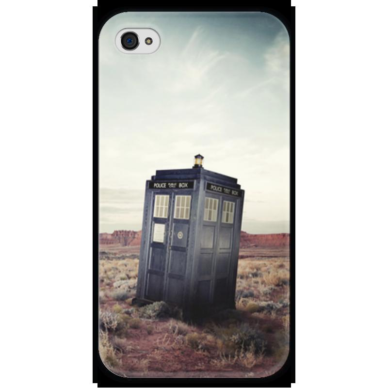 Чехол для iPhone 4 глянцевый, с полной запечаткой Printio Тардис (доктор кто) свитшот унисекс с полной запечаткой printio доктор кто и тардис doctor who