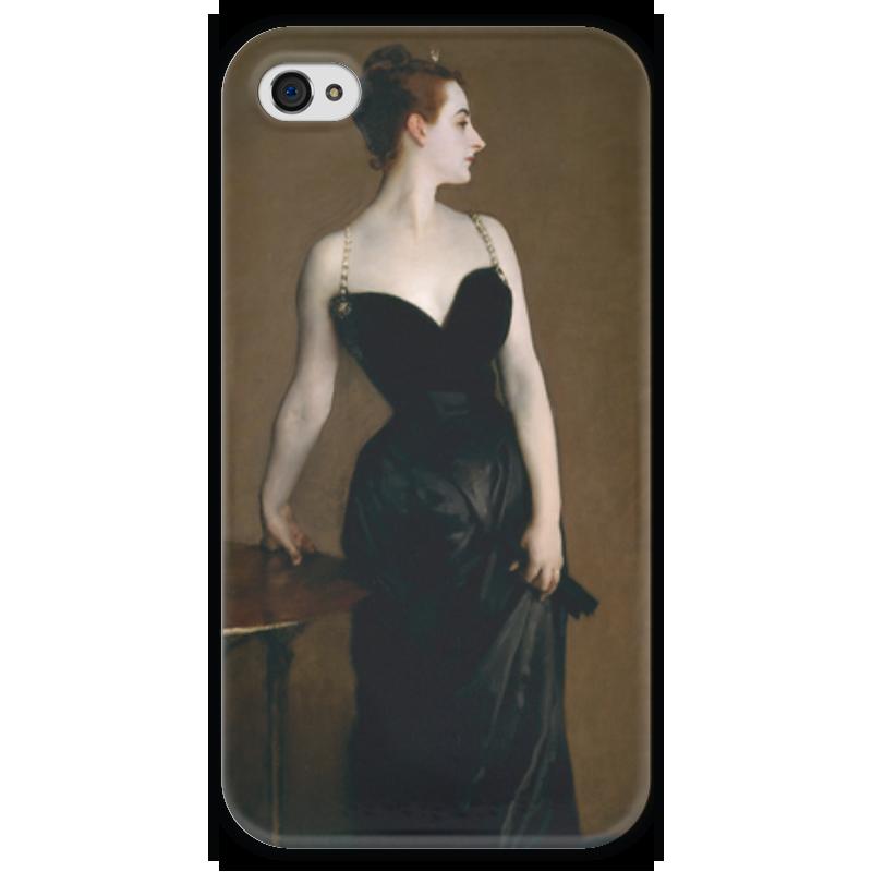Чехол для iPhone 4 глянцевый, с полной запечаткой Printio Портрет мадам икс чехол для iphone 4 глянцевый с полной запечаткой printio портрет лоренцо медичи