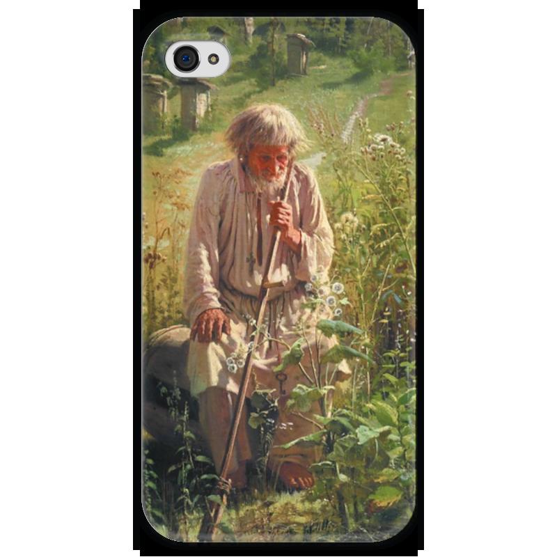 художник владимир пасечник Чехол для iPhone 4 глянцевый, с полной запечаткой Printio Пасечник (картина крамского)