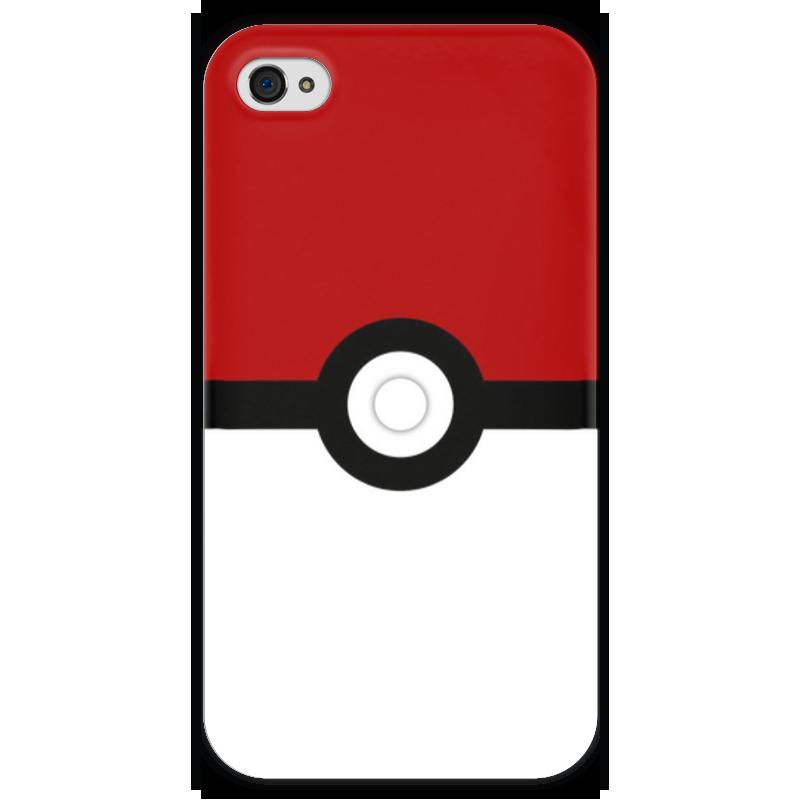 Чехол для iPhone 4 глянцевый, с полной запечаткой Printio Pokeball чехол для iphone 4 глянцевый с полной запечаткой printio суарес