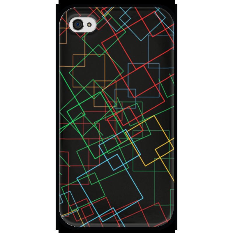 Чехол для iPhone 4 глянцевый, с полной запечаткой Printio Абстракция чехол для iphone 4 глянцевый с полной запечаткой printio эфиопка
