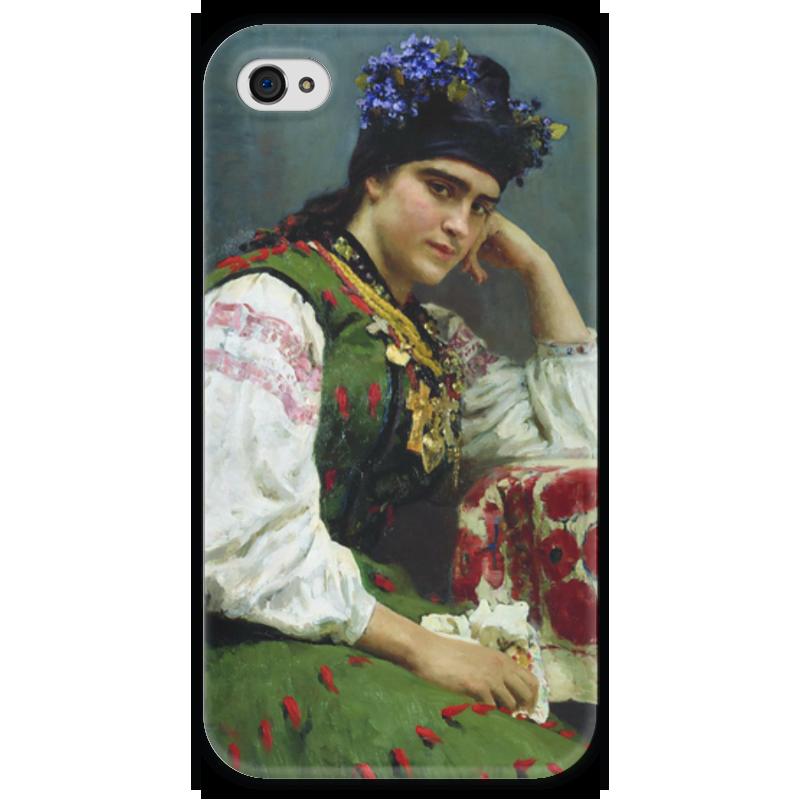 Чехол для iPhone 4 глянцевый, с полной запечаткой Printio Портрет софьи драгомировой чехол для iphone 4 глянцевый с полной запечаткой printio портрет лоренцо медичи