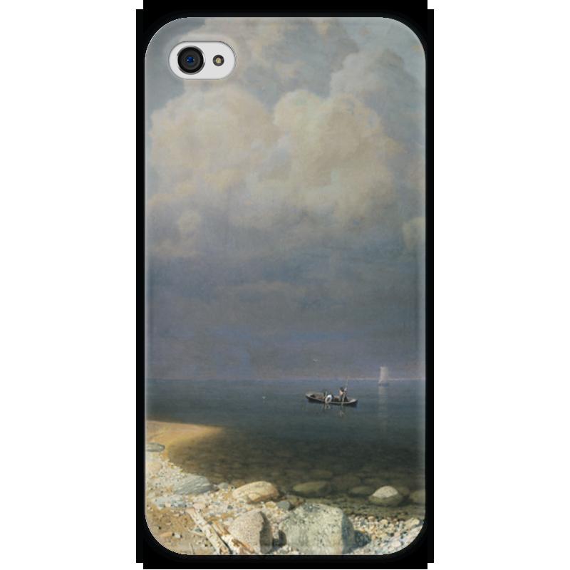 Чехол для iPhone 4 глянцевый, с полной запечаткой Printio Ладожское озеро (картина архипа куинджи) чехол для blackberry z10 printio север картина архипа куинджи