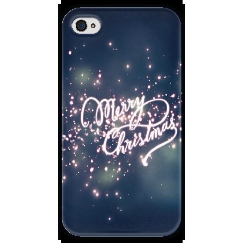Чехол для iPhone 4 глянцевый, с полной запечаткой Printio Merry christmas чехол для iphone 4 глянцевый с полной запечаткой printio эфиопка