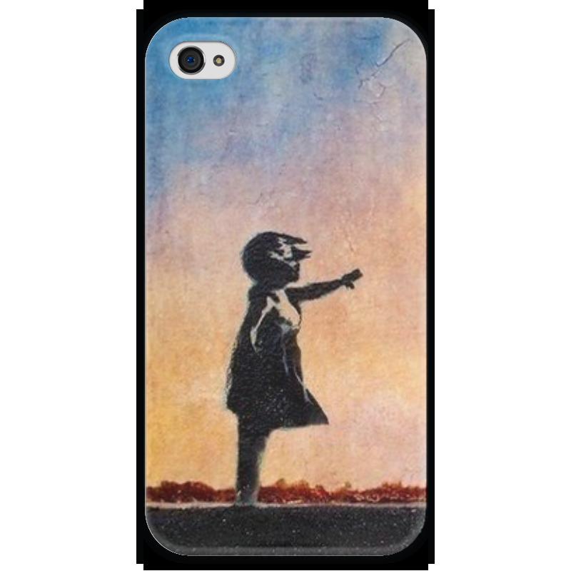 Чехол для iPhone 4 глянцевый, с полной запечаткой Printio Девочка чехол для iphone 4 глянцевый с полной запечаткой printio иллидан