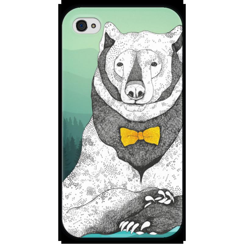 Чехол для iPhone 4 глянцевый, с полной запечаткой Printio Интеллигентный мишка чехол для iphone 4 глянцевый с полной запечаткой printio эфиопка