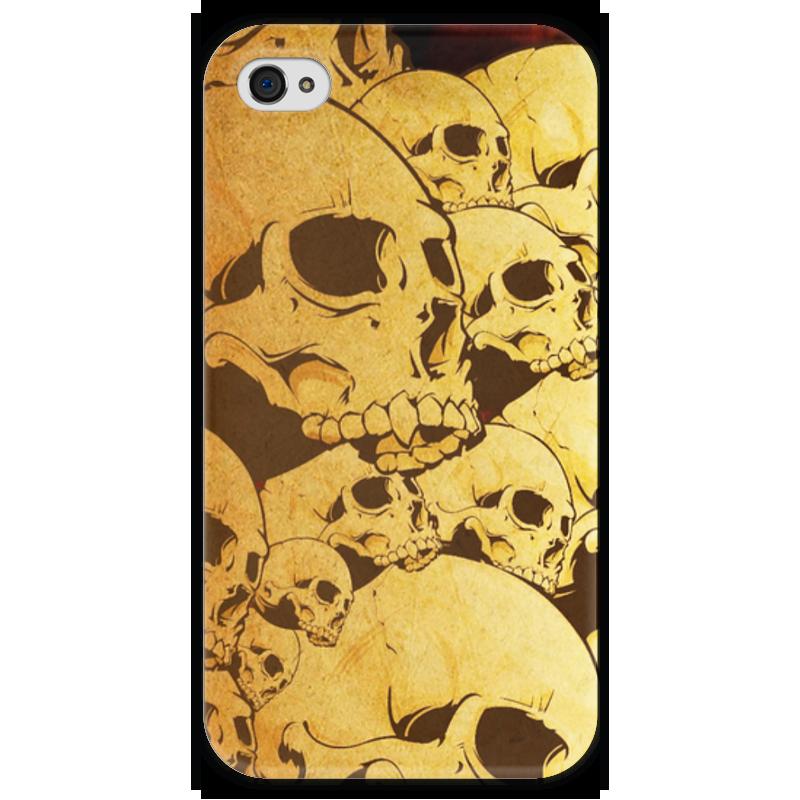 Чехол для iPhone 4 глянцевый, с полной запечаткой Printio Черепа чехол для iphone 4 глянцевый с полной запечаткой printio бэтмен