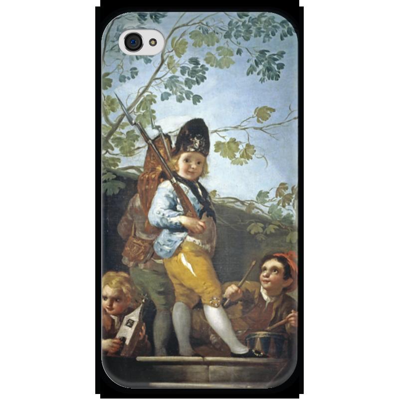 Чехол для iPhone 4 глянцевый, с полной запечаткой Printio Мальчики играют в солдат форма для солдат срочников