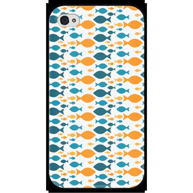 Чехол для iPhone 4 глянцевый, с полной запечаткой Printio Рыбки набор bumbaram волшебный шар рыбки mm 4