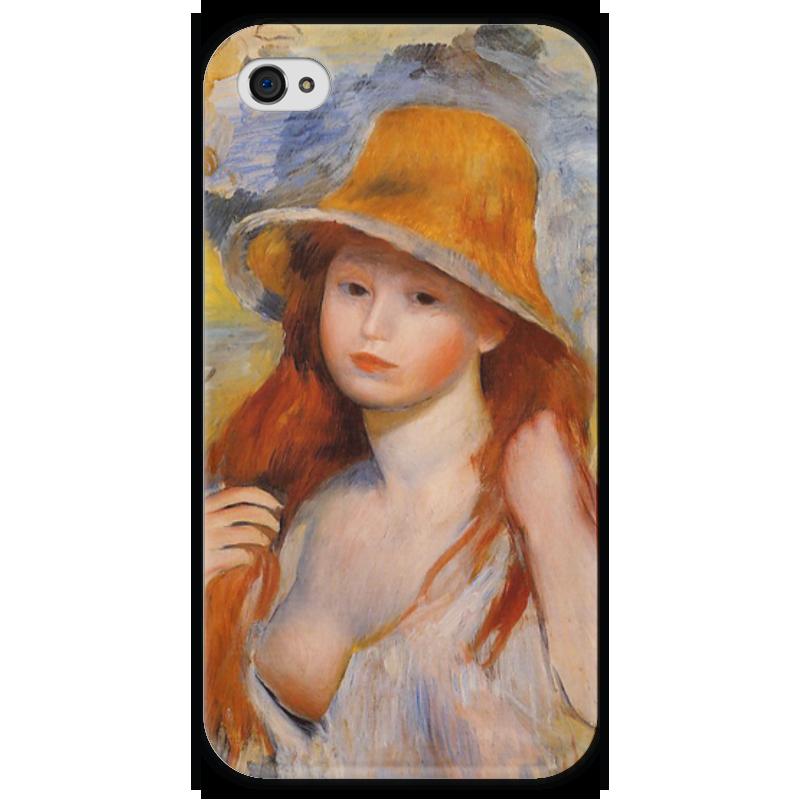 Чехол для iPhone 4 глянцевый, с полной запечаткой Printio Молодая женщина в соломенной шляпе чехол для iphone 4 глянцевый с полной запечаткой printio сад на улице корто сад на монмартре ренуар