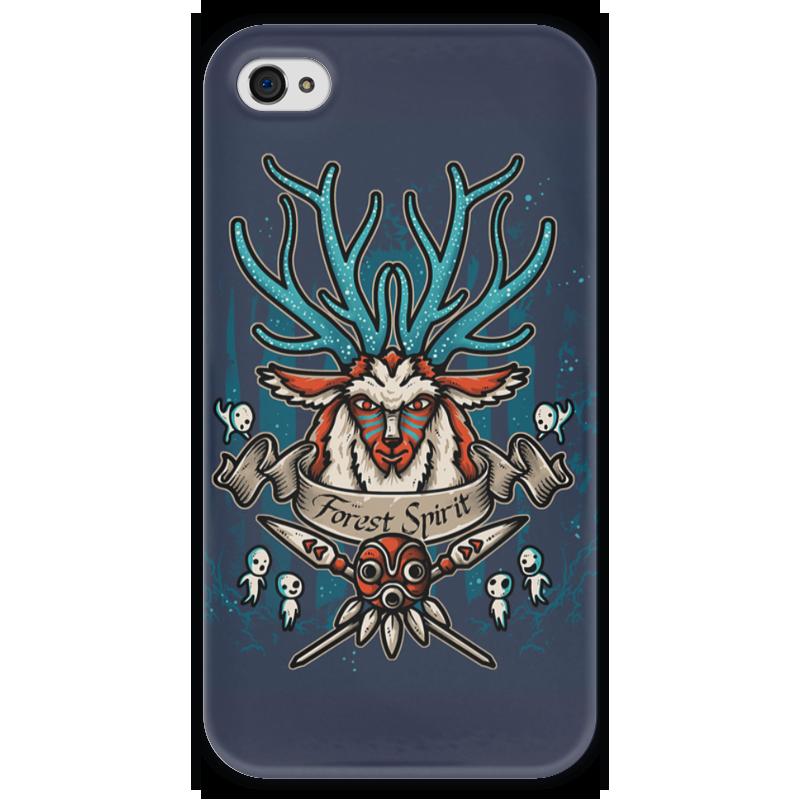 Чехол для iPhone 4 глянцевый, с полной запечаткой Printio Forest spirit. лесной дух чехол для samsung galaxy s5 printio forest spirit лесной дух