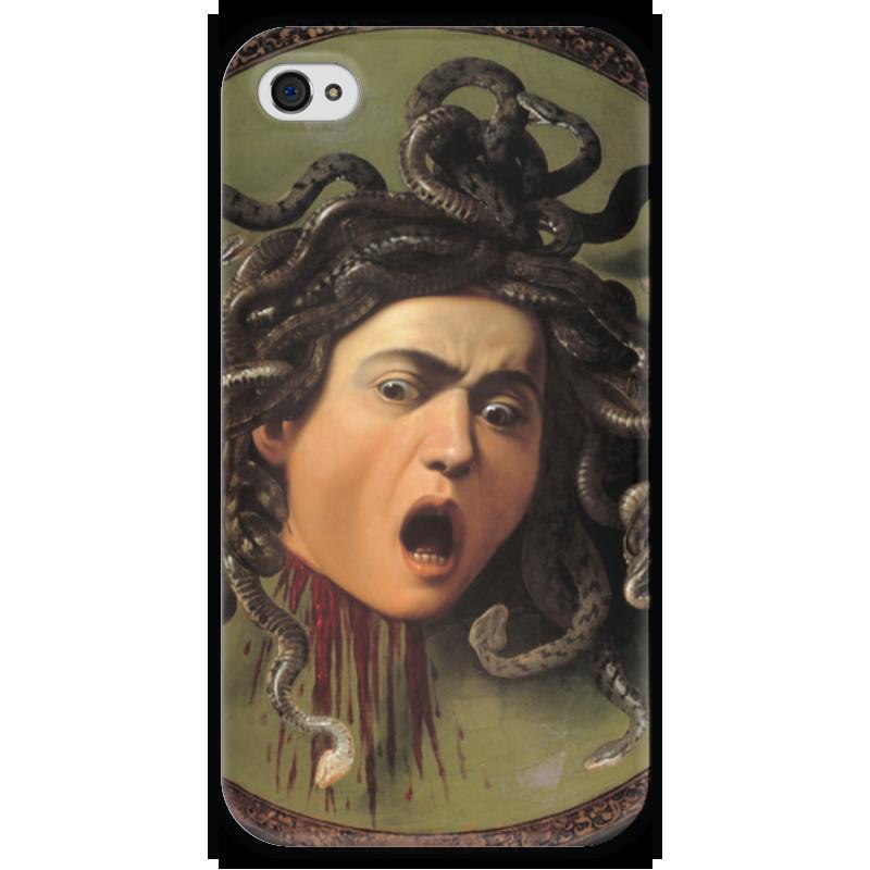 Чехол для iPhone 4 глянцевый, с полной запечаткой Printio Медуза (картина караваджо) караваджо