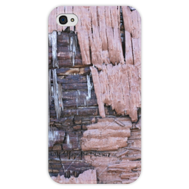 Чехол для iPhone 4 глянцевый, с полной запечаткой Printio Деревянный