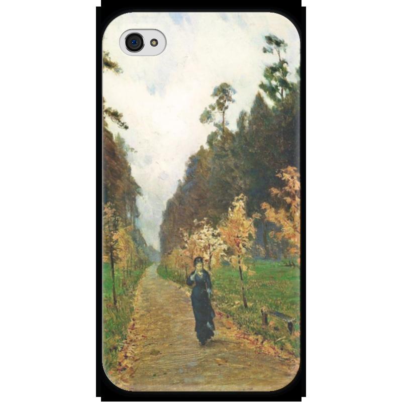 Чехол для iPhone 4 глянцевый, с полной запечаткой Printio Осенний день. сокольники (левитан) чехол для iphone 4 глянцевый с полной запечаткой printio осенний день сокольники левитан