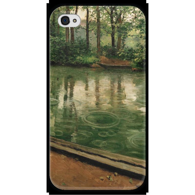 Чехол для iPhone 4 глянцевый, с полной запечаткой Printio Иер. эффект дождя датчики дождя