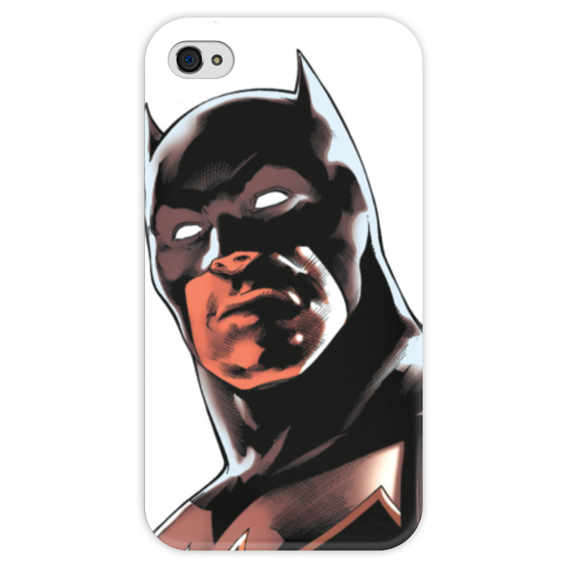 Чехол для iPhone 4 глянцевый, с полной запечаткой Printio Бэтмен чехол для iphone 4 глянцевый с полной запечаткой printio иллидан