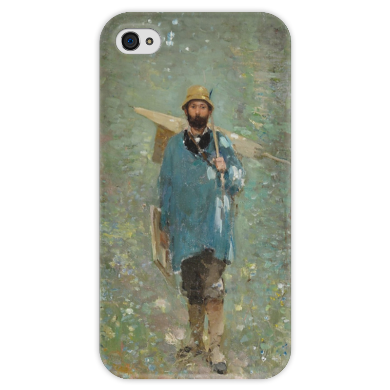 Чехол для iPhone 4 глянцевый, с полной запечаткой Printio Портрет иона андрееску чехол для iphone 4 глянцевый с полной запечаткой printio портрет лоренцо медичи