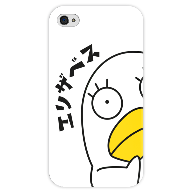 Чехол для iPhone 4 глянцевый, с полной запечаткой Printio Гинтама. элизабет чехол для iphone 4 глянцевый с полной запечаткой printio эфиопка