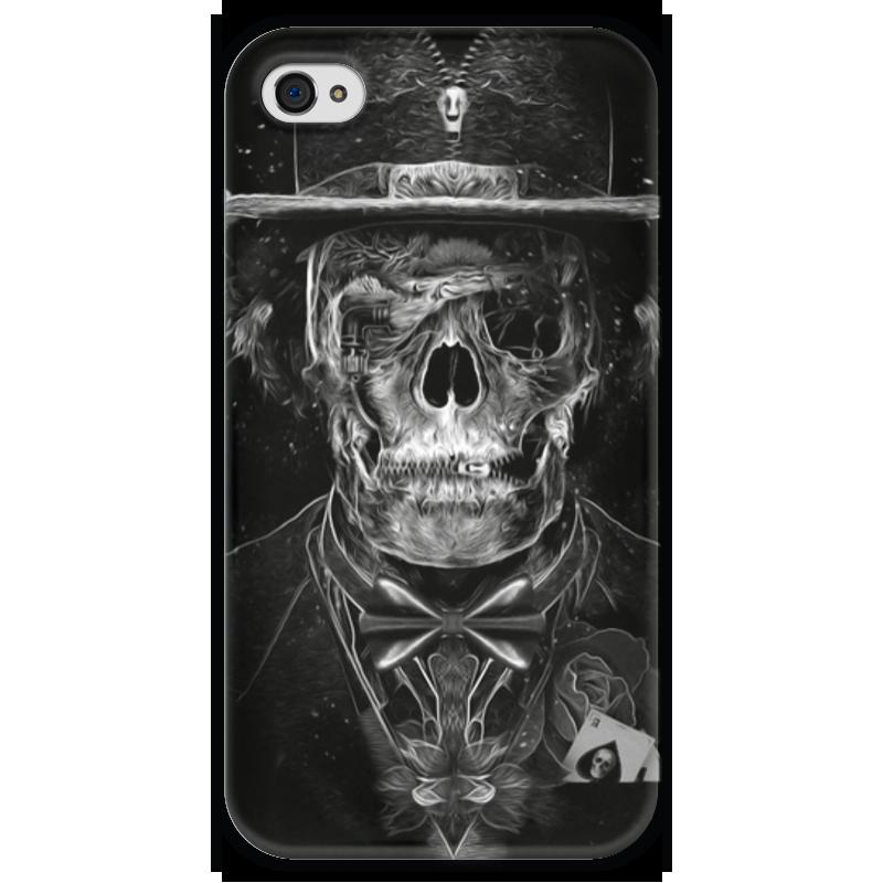 Чехол для iPhone 4 глянцевый, с полной запечаткой Printio Mr. skull чехол для iphone 4 глянцевый с полной запечаткой printio skull girl