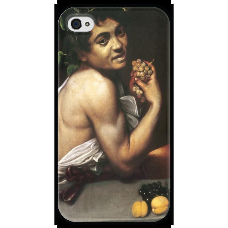 Чехол для iPhone 4 глянцевый, с полной запечаткой Printio Больной вакх (караваджо) караваджо