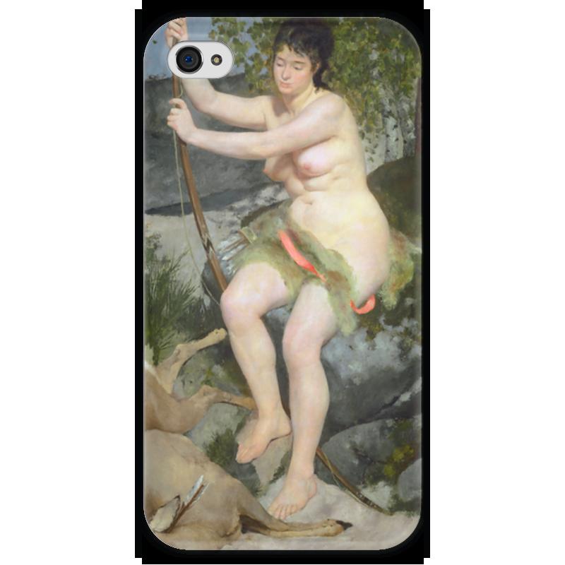 Чехол для iPhone 4 глянцевый, с полной запечаткой Printio Диана (пьер огюст ренуар) чехол для samsung galaxy s5 printio буря пьер огюст кот